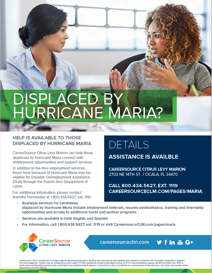 CareerSource CLM Maria Flyer